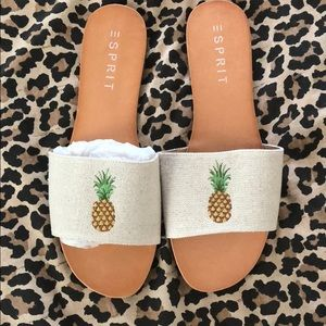 New Pineapple embroidered Slides 9